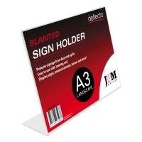 Deflecto Sign Holder Slanted A3 Landscape 47611