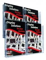 Deflecto Brochure Holder Lit-Loc Wall Display A4 x4