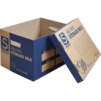 Sovereign Archive Boxes with Lid 390x300x255mm Pack of 20