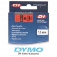 Dymo Labelling Tape D1 12mm x 7M 45017 Black on Red