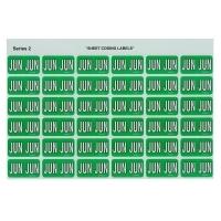 Avery Coding Label Month PK180 43406 (JUN) 25x38mm L Green