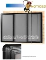 Be Noticed Hinged Door Notice Case 3Door Black Frame 1830x1220
