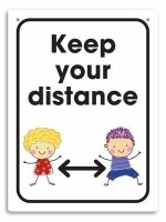 Durus Hygiene Wall Sign - Keep your distance