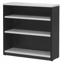 LOGAN BOOKCASE 2 Shelf 900x900 White & Ironstone