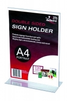Deflecto Sign Holder Double Sided T-Shape A4 Portrait 47801