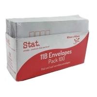 Stat Envelope 90x145 11B PNS Secretive White Pack of 100