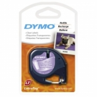 Dymo Letratag Labelling Tape PVC 12267/16952 Clear