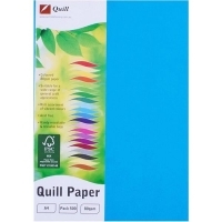 Quill Coloured Paper A4 80gsm Pack 500 - Marine Blue