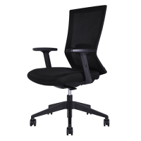 Portland Mesh Medium Back Office Chair W18MBK Black