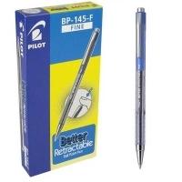 Pilot BP145 Retractable Pens BX12 Fine Blue 623252
