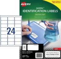 Avery L6146 No Peel Tamper Evident Labels PK10sh 24/sh