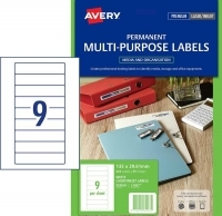 Avery Lasel Label L7667 Standard Data Cartridge Media Pk25