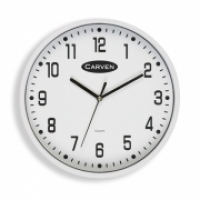 Carven Wall Clock 300mm White Frame CL300WH