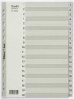 Divider A4 PVC Grey 1-20 Bantex 6213