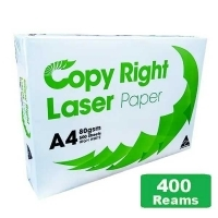 Copy Right Laser A4 White 80gsm Copy Paper F(80bxs:400reams)