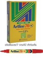 Artline 70 Marker Permanent Medium Bullet Red BX12