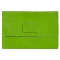 Marbig Slimpick Bright Document Wallet Manilla Fcap PK10 GREEN