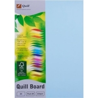 Quill Board A4 210gsm 90304 Pack 50 - Powder Blue