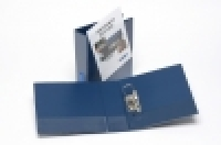 Bantex Insert Lever Arch File PVC A4 1/2 Arch Clearview Blue