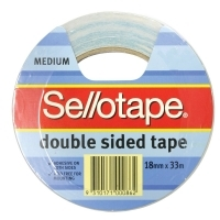 Sellotape Double Sided Tape 404 18mm x 33M 960604