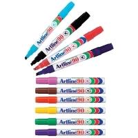 Artline 90 Marker Permanent Medium Chisel Assorted BX12
