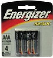 Energizer Max Battery Alkaline ( AAA ) Pkt4 E92