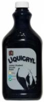 Liquicryl Junior Student Acrylic Paint 2L Black