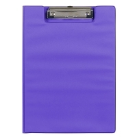 Marbig Clipboard Folder A4 PVC Summer Colours 4300619A Purple