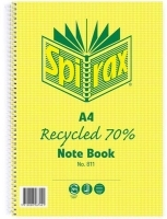 Spirax Notebook 811 Recycled A4 240page SideOpen PK5