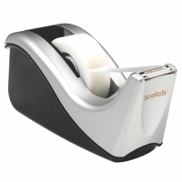 3M Scotch Small Desktop Tape Dispenser C60 Silver/Black