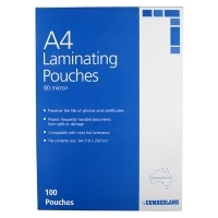 Cumberland Laminating Pouch A4 80mic BX100