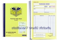 Purchase Order Book Duplicate 207x144mm Carbonless Spirax 577