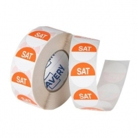 Avery Food Rotation Label 24mm SATURDAY Removable 1000/Roll