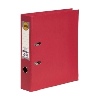 MARBIG PE LINEN LEVER Arch File A4 Deep Red BX10