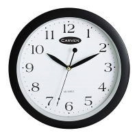 Carven Wall Clock 300mm Black 0268250