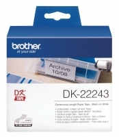Brother DK22243 White Paper Label Roll Extra Wide 102mm x 30.48M