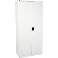 Go Steel Stationery Cupboard 2000H 4 Shelf White
