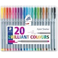 Staedtler 334 Triplus Triangular Fineliner Pens Superfine Wallet