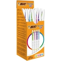 BIC Cristal Up Ballpoint Pen 1.2mm M.Fashion Asstd Colours BX20