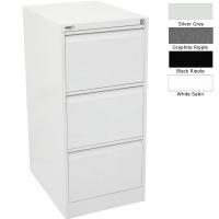 Go Filing Cabinet 3 Drawer Silver Grey