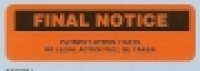 Dispenser Label FINAL NOTICE 19x63mm BX125