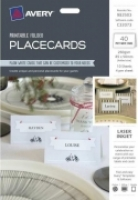 Avery C32073 Folded Place Cards 82x56mm 40Pack