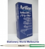 Artline Fineliner Marking Pens No 210 (0.6mm) BX12 Green