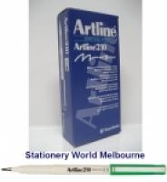 Artline Fineliner Marking Pens No 210 (0.6mm) BX12 Green