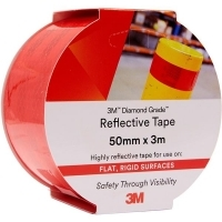 3M 983-72 REFLECTIVE TAPE Diamond 50mm x 3M Red