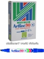 Artline 90 Marker Permanent Medium Chisel Blue BX12