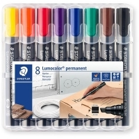Staedtler Permanent Marker 350WP8 Chisel Point Wallet 8