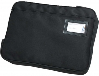Marbig Convention Satchel Expanding Zipped Fabric Black 9008402