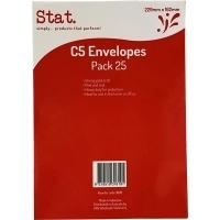 Stat Envelope 229x162 C5 PNS Kraft Pack of 25