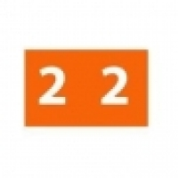 Avery Coding Label Numeric PK180 43342 (2) 25x38mm Orange